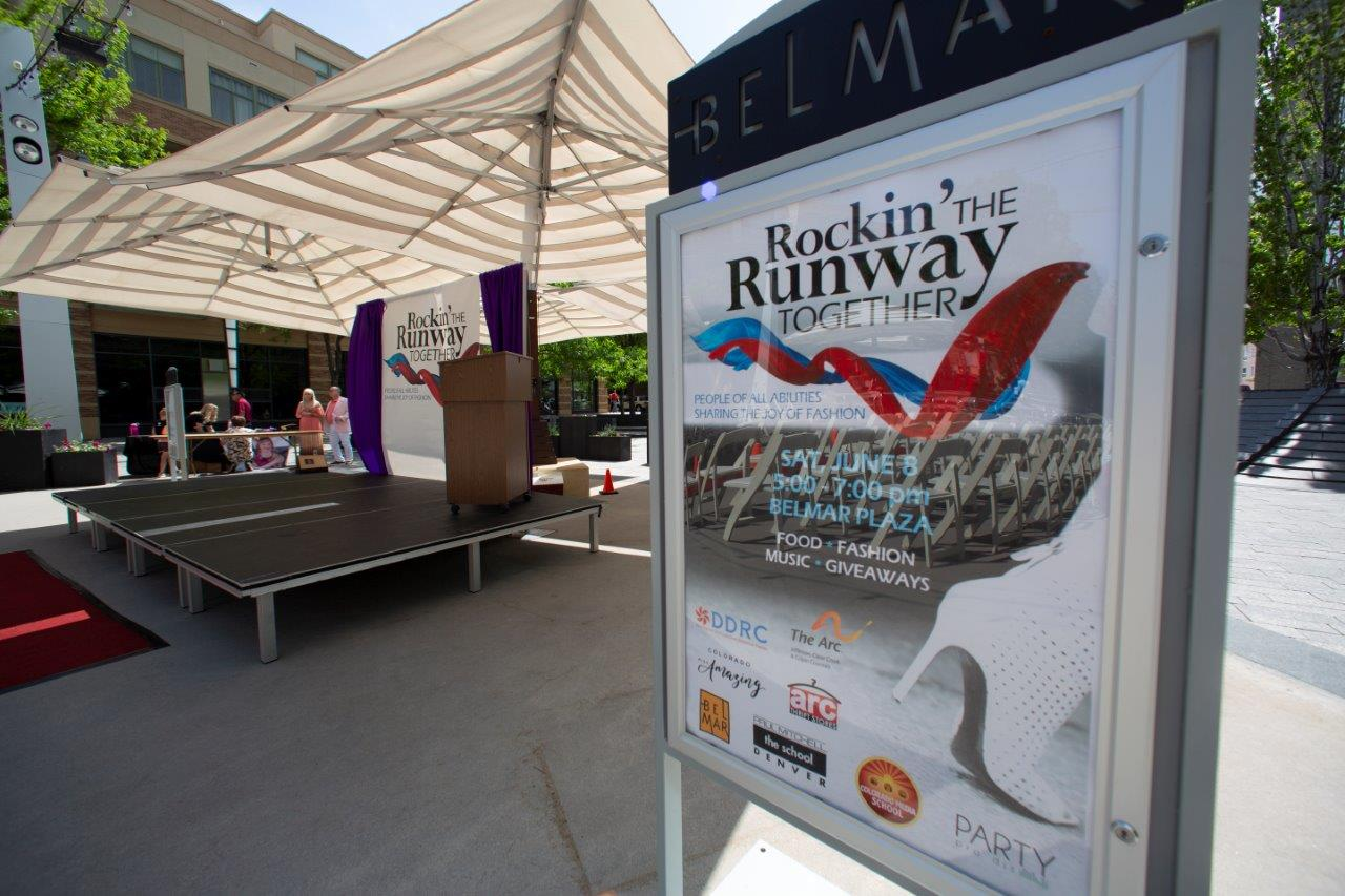 Rockin' the Runway  Sign marks the event