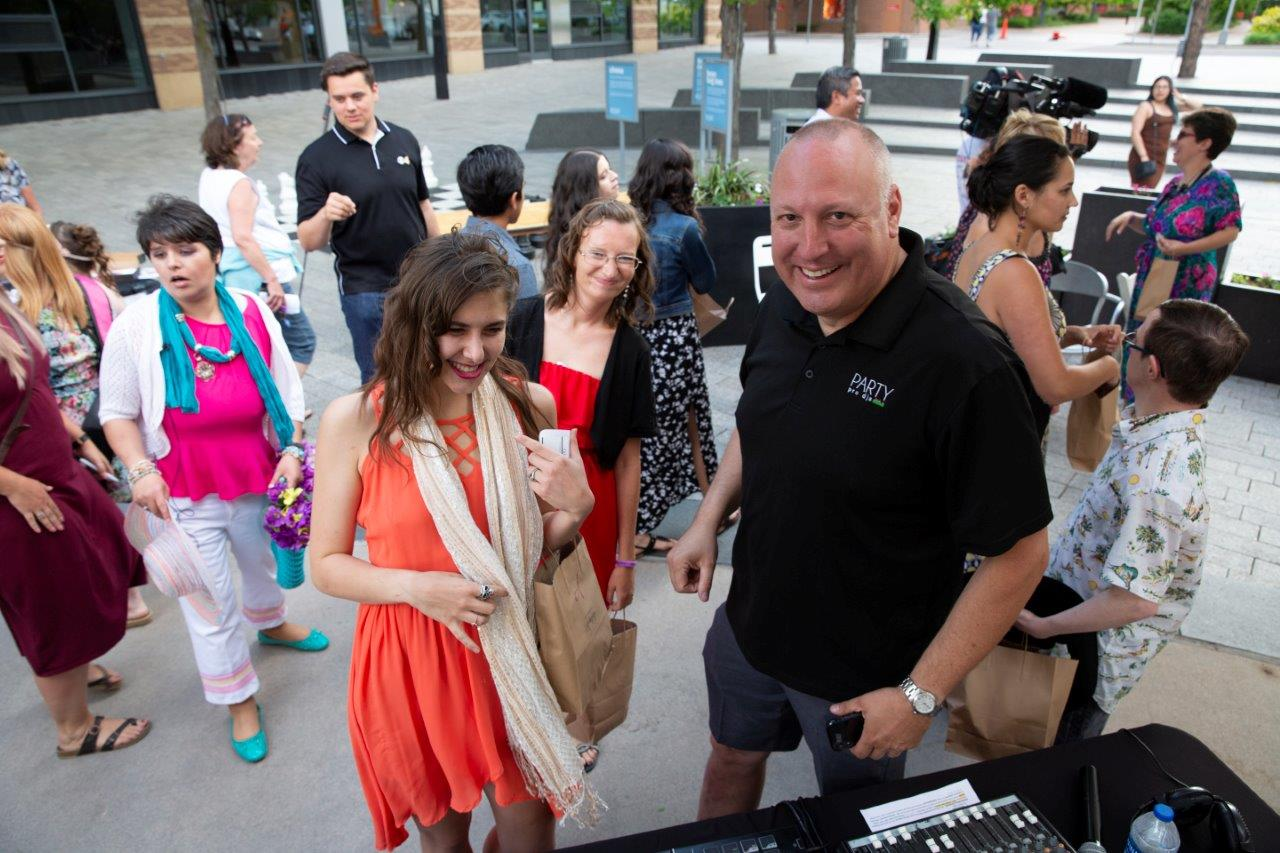 Rick Larson, Party Pro DJs generously gave his time and talent for the event