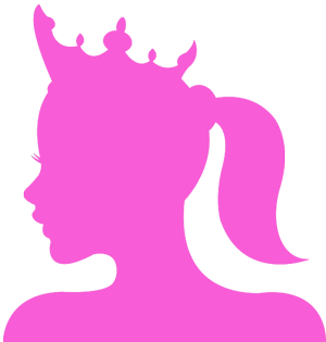 A Princess illustration in pink